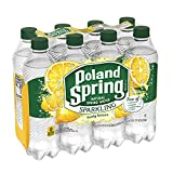Poland Spring Sparkling Water, Lively Lemon, 16.9 oz. Bottles (Pack of 8)