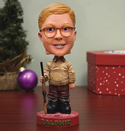 725 a christmas story ralphie with red ryder bb gun headknocker