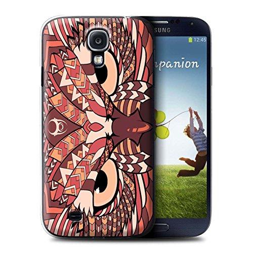 Coque de Stuff4 / Coque pour Samsung Galaxy S4/SIV / Hibou-Rouge Design / Motif Animaux Aztec Collection
