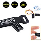 Crazepony Strap and FS A8S  Mini  Receiver  8CH, PPM i-BUS SBUS Output, for Flysky FS i4 i6 i6S i6X TM10 TM8 Transmitter Controller