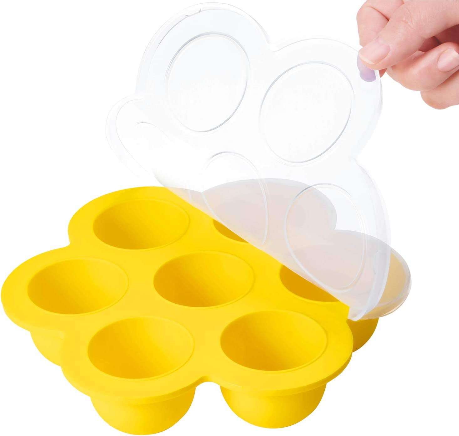 Blest Silicone Egg Bites Mold for Instant Pot Accessories,Oven,Easy to Pop Out,Oven-Safe Up to 446℉,BPA Free,No Smell,for Making Egg Cakes,Pudding,Yogurt,Rice Balls,Dishwasher Safe.
