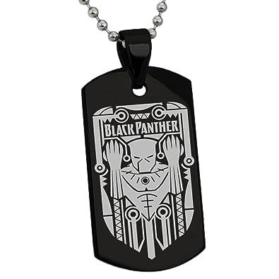 amazon com black stainless steel marvel black panther crest logo rh amazon com Black Panther Marvel Wallpaper Black Panther Marvel Coloring Pages