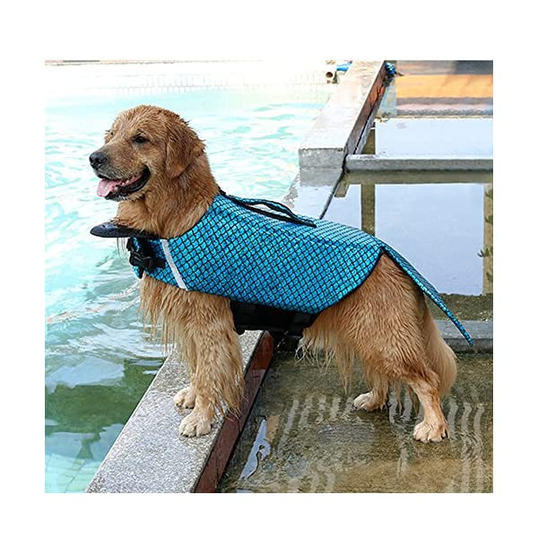 Albabara Dog Life Jacket Mermaid Fashion Floatation Vest Doggy Lifesaver Pet Puppy Preverver Doggies Safety Device Small… Click on image for further info. 6
