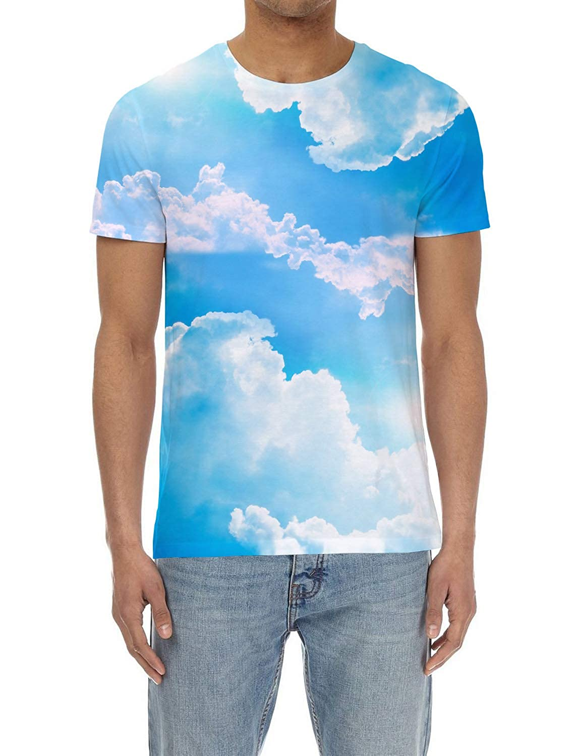 919902fa6 bluee Skyvod6117 Voguard Casual 3D Printed Printed Printed T-Shirt Polyester  Short Sleeve Tops for Men 5b0d18