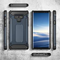 【Free PET Screen Protector】Samsung Galaxy Note 9 Case with FREE PET Screen Protector Prime Shipping Available, Compatible with Wireless Charger, Rugged and Heavy Duty Military-Grade Protection Armour Phone Accessory Premium Material for Women and Men 2018-2019 Release (Navy Blue)
