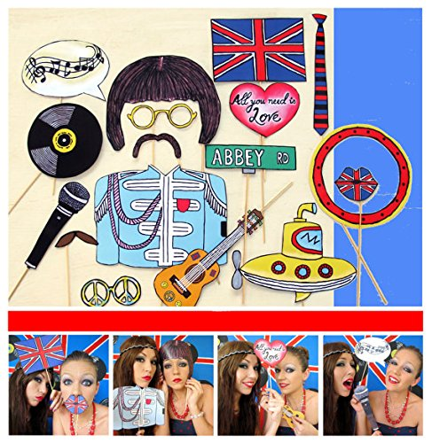 Beatles Photo Booth Props Beatles Photo