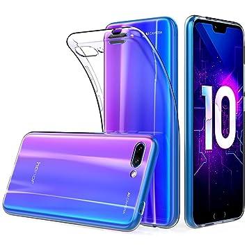 Funda Carcasa Huawei Honor 10, POOPHUNS Fundas Carcasas Case Caso Transparente para Huawei Honor 10, Ultra Fina, Cristal Claro Absorción Silicona ...