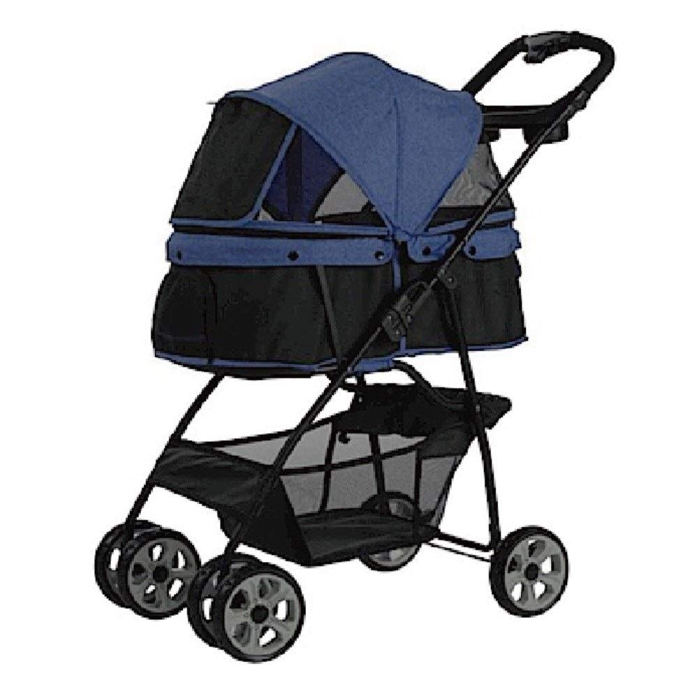 bluee Ryan Dog Pushchair, Stroller Pram Carrier Outdoor Traveling Pet Cat Trolley Jogger 4 Wheel For Puppy Medium Disabled Dogs (color   bluee)