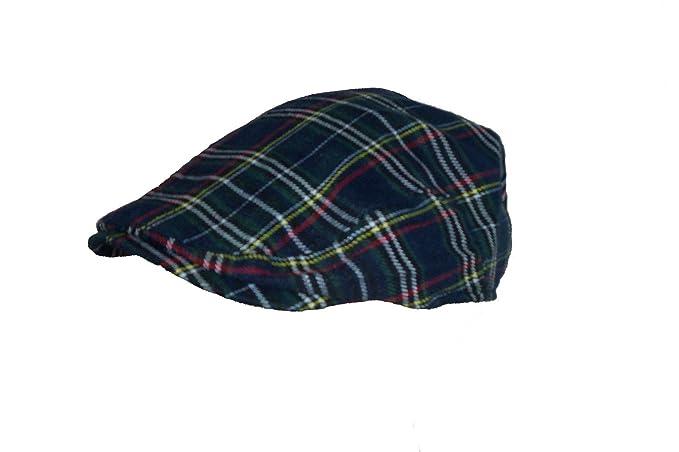 1399a4f1cc3 Hawkins Men s Scottish Tartan Flat Cap in 2 Colours   Sizes (Small Medium