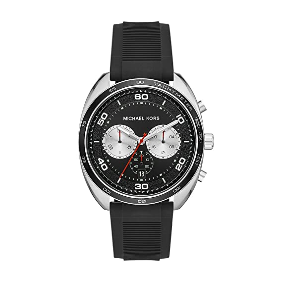 Michael Kors Mens Dane MK8611 Silver Silicone Japanese Chronograph Fashion Watch: Michael Kors: Amazon.es: Relojes