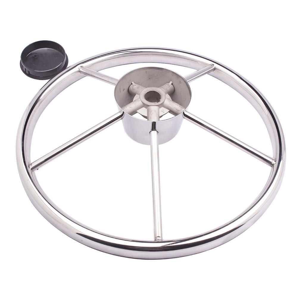 Amazon.com : Boat Steering Wheel Stainless Steel 5 Spoke 13-1/2 ...