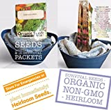 buy Organic Survival Heirloom Seeds Non-GMO Organic Seeds Garden Seeds Survival Seeds 2,650 Seeds Upc 650327337800 Long-Term Storage Cold Hardy now, new 2018-2017 bestseller, review and Photo, best price $6.20