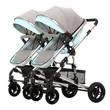 WYX-Stroller Cochecitos para Bebés Gemelos Pliegue Ligero ...