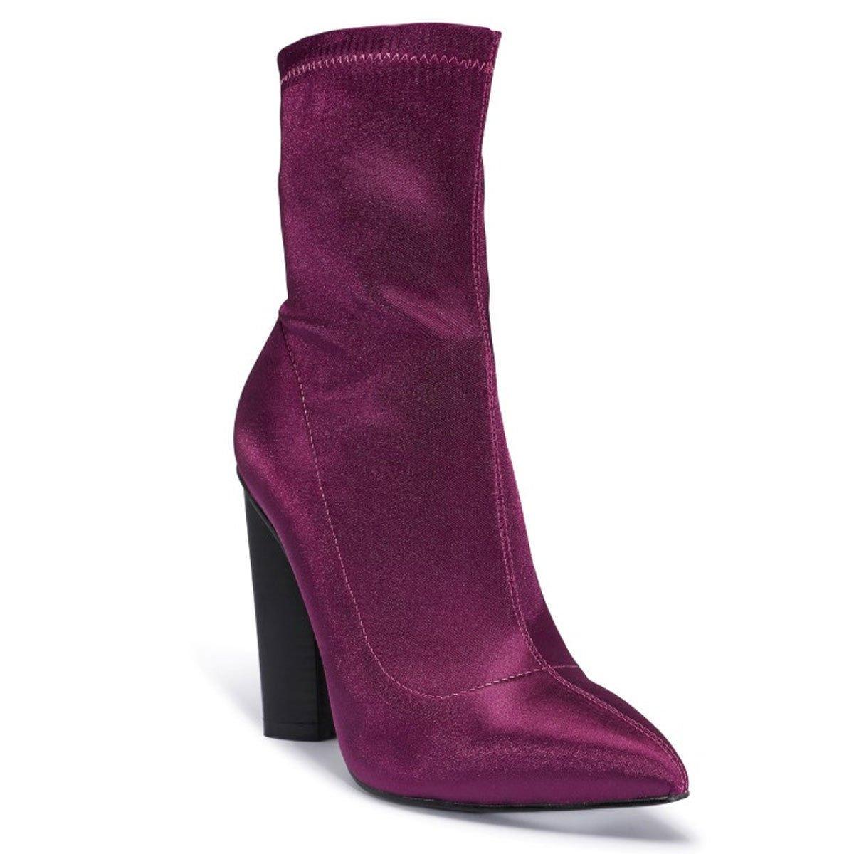 Shoesdays Damen Stiefel & Stiefeletten Schwarz Schwarz 35.5, Schwarz - Violett - Größe: 39