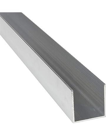 Perfil de aluminio 5000 chapa reluciente 15 x 15 x 2 x 1000 mm