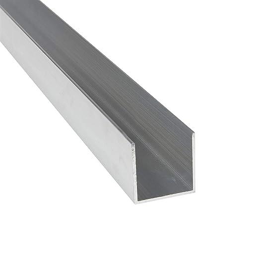 vidaXL 4x Aluminium U Profile 2 m 40 x 40 x 2 mm Aluminium Profile U Angle