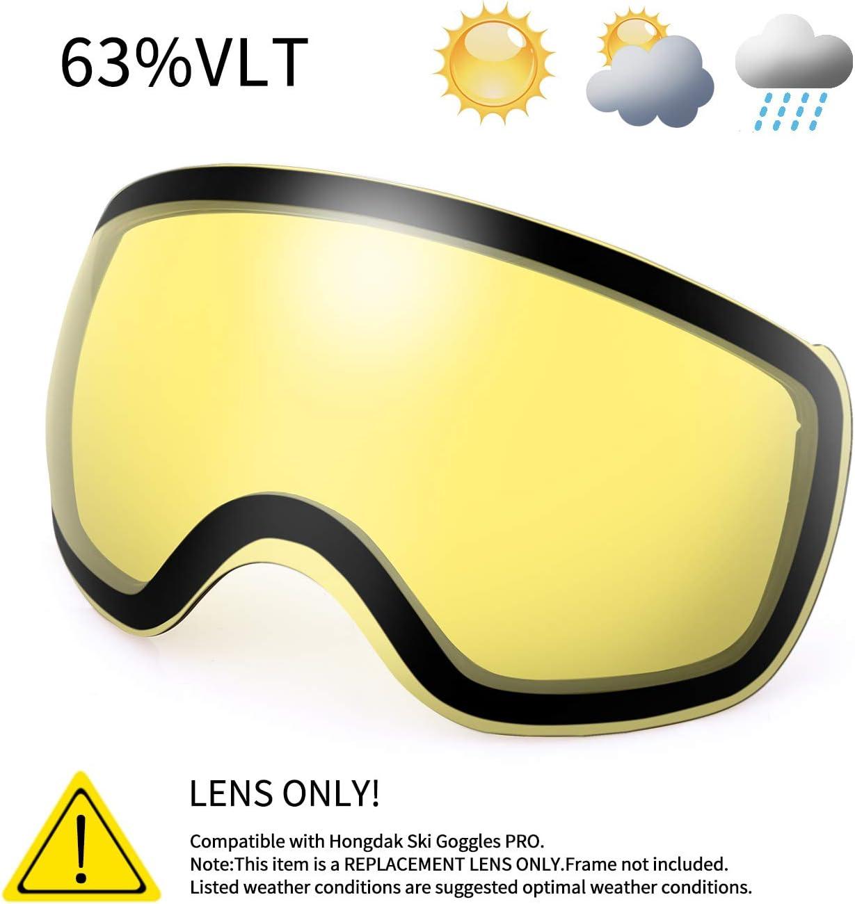 KUTOOK Gafas Esquí Hombre Mujer 100% UV400 Protección Gafas De Ventisca Ski OTG Máscara Snowboard Nieve Adultos Lente Anti Vaho De Doble Capa