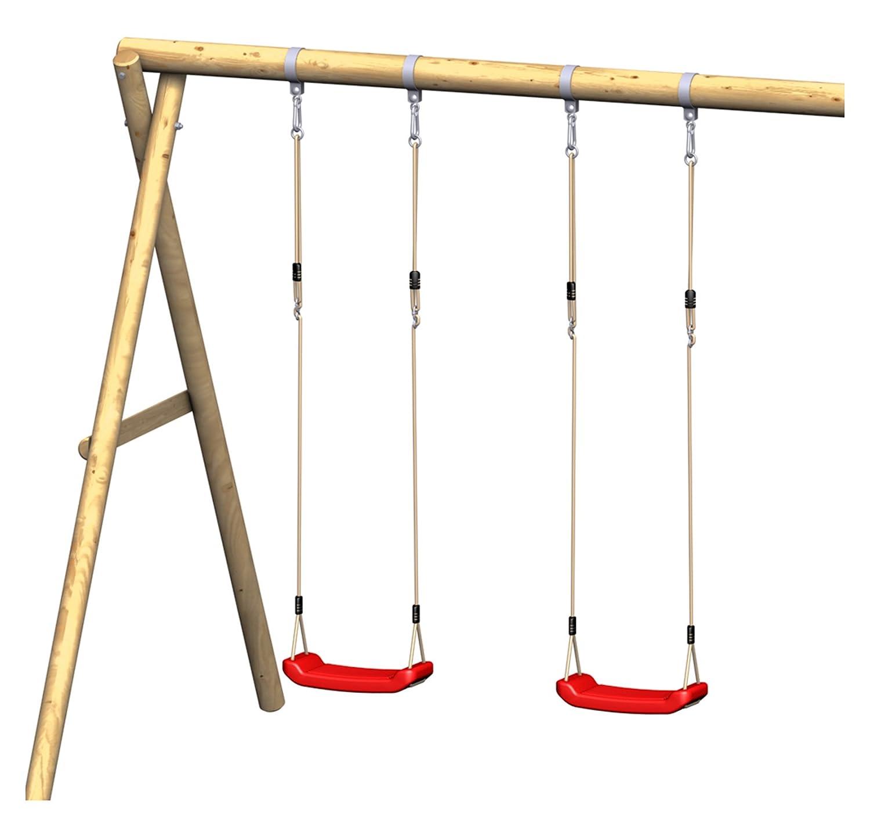 Schaukel Anbau Set für Spielanlage Spielturm FIPS 239x220cm