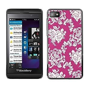 Be Good Phone Accessory // Dura Cáscara cubierta Protectora Caso Carcasa Funda de Protección para Blackberry Z10 // Floral Pattern Vintage Wallpaper Flowers