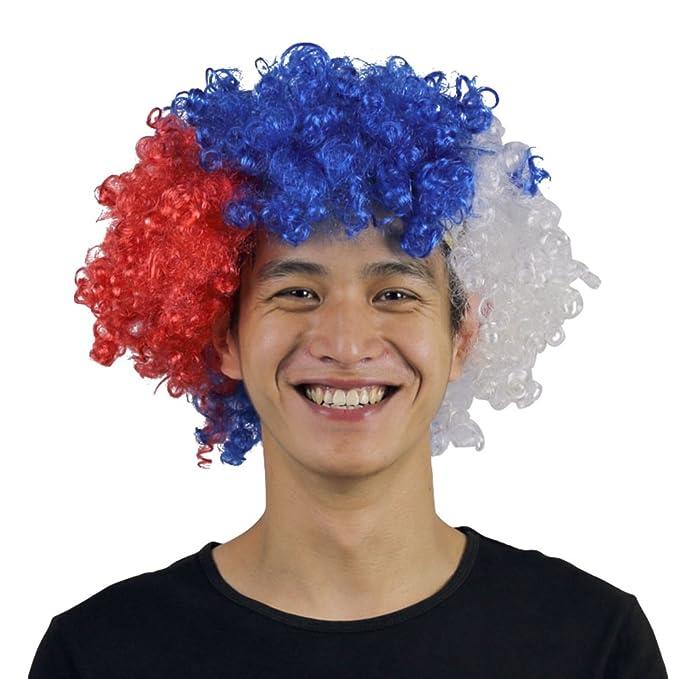 YuanDiann 2018 Fútbol Copa Mundial Rusia Fans Peluca Color De La Bandera Nacional Football Carnaval Fiesta