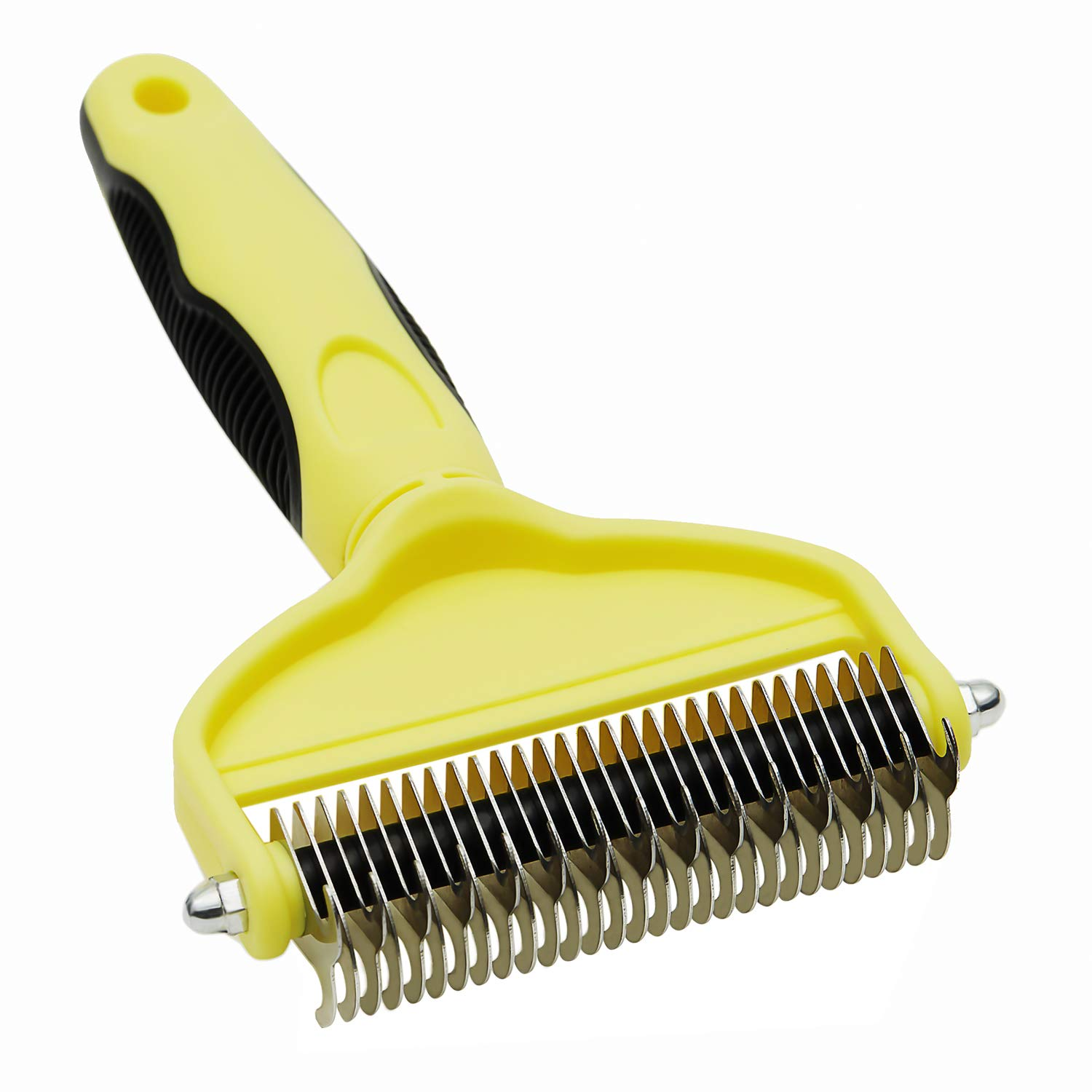 IPETSUN Dematting Comb,Pet Grooming Tool,2 Sided Undercoat Grooming Rake for Cats/Large Dogs, Safe Dematting Comb for Easy Mats & Tangles Removing【Upgraded Version】