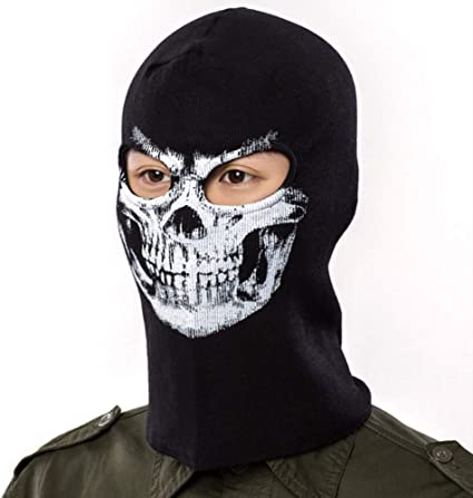 Skeleton Skull Motorcycle Bike Balaclava Ghost Mask Full Face Neck Head Hood Cap