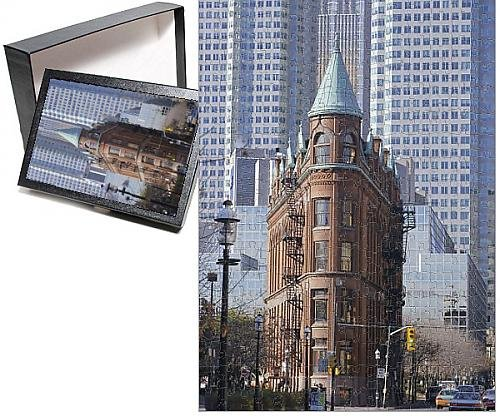 Photo Jigsaw Puzzle Of Old And New Buildings In The Downtown Financial District  Toronto  Ontario