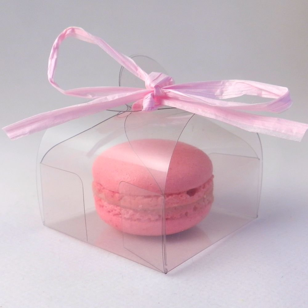 Clear Single Wrap Style Macaroon Boxes pack of 50 Amazoncouk