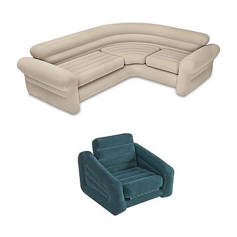 Sensational Amazon Com Intex Inflatable Corner Living Room Neutral Cjindustries Chair Design For Home Cjindustriesco
