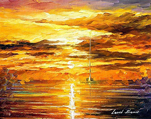 Sunset Of Feelings - PALETTE KNIFE Contemporary Fine Art Oil Painting On Canvas By Leonid Afremov - Size: 24