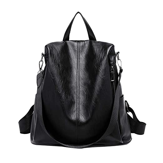 242d6f22310 Image Unavailable. Image not available for. Color  2018 Woman Backpack  Anti-Theft Bag Casual Wild Soft Leather Dual-use Small Bags