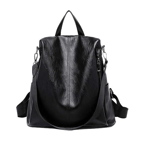 Amazon.com: MaxFox Women Anti-theft Backpack, Ladies Designer Wild Waterproof Leather Dual-use Small Bag Satchel Rucksack (Black): Clothing