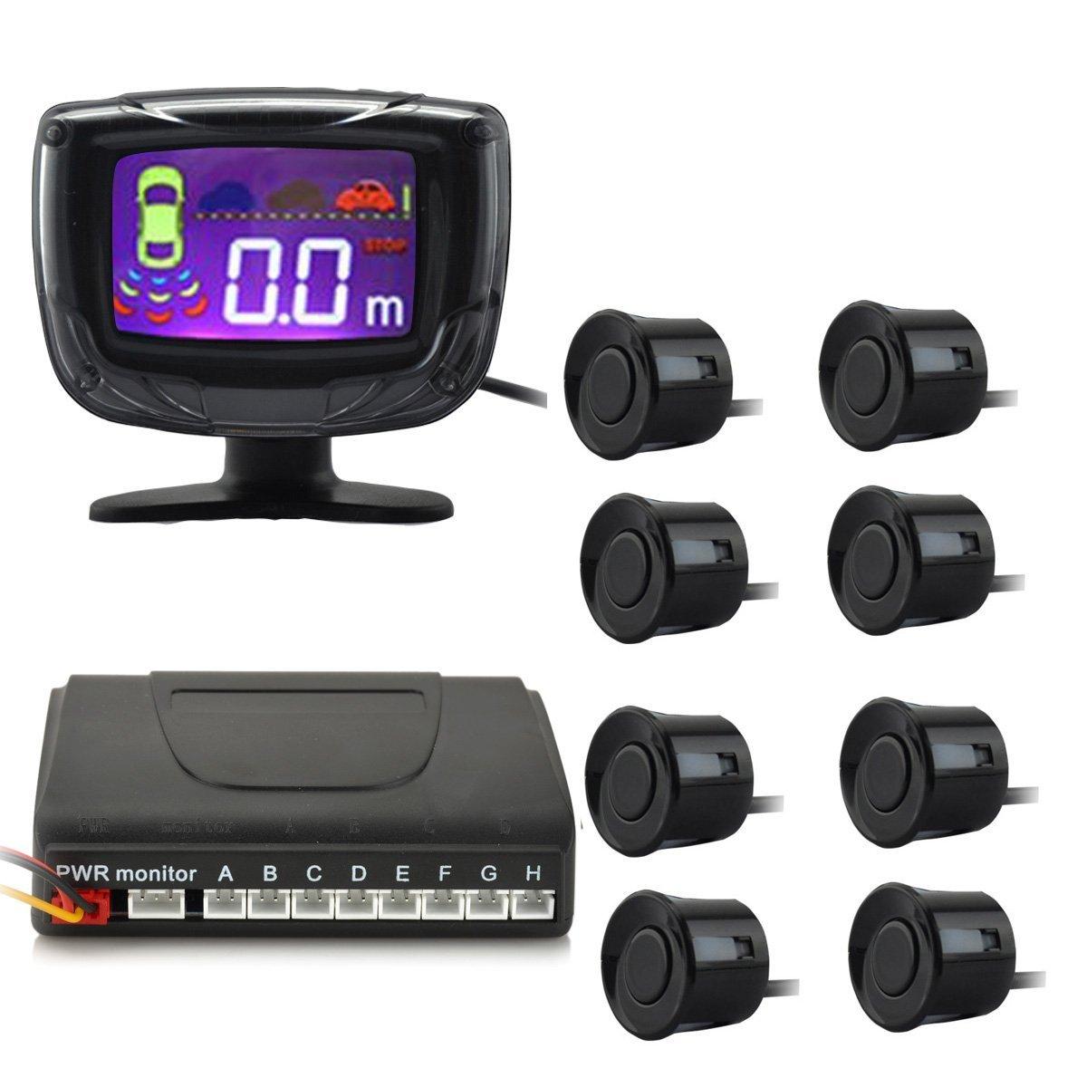 IDS Home PZ500-8 2'' 8-Probes LCD Digital Display Screen Car Parking Sensor System Alarm by three-step Bibi sound(DC 12V)