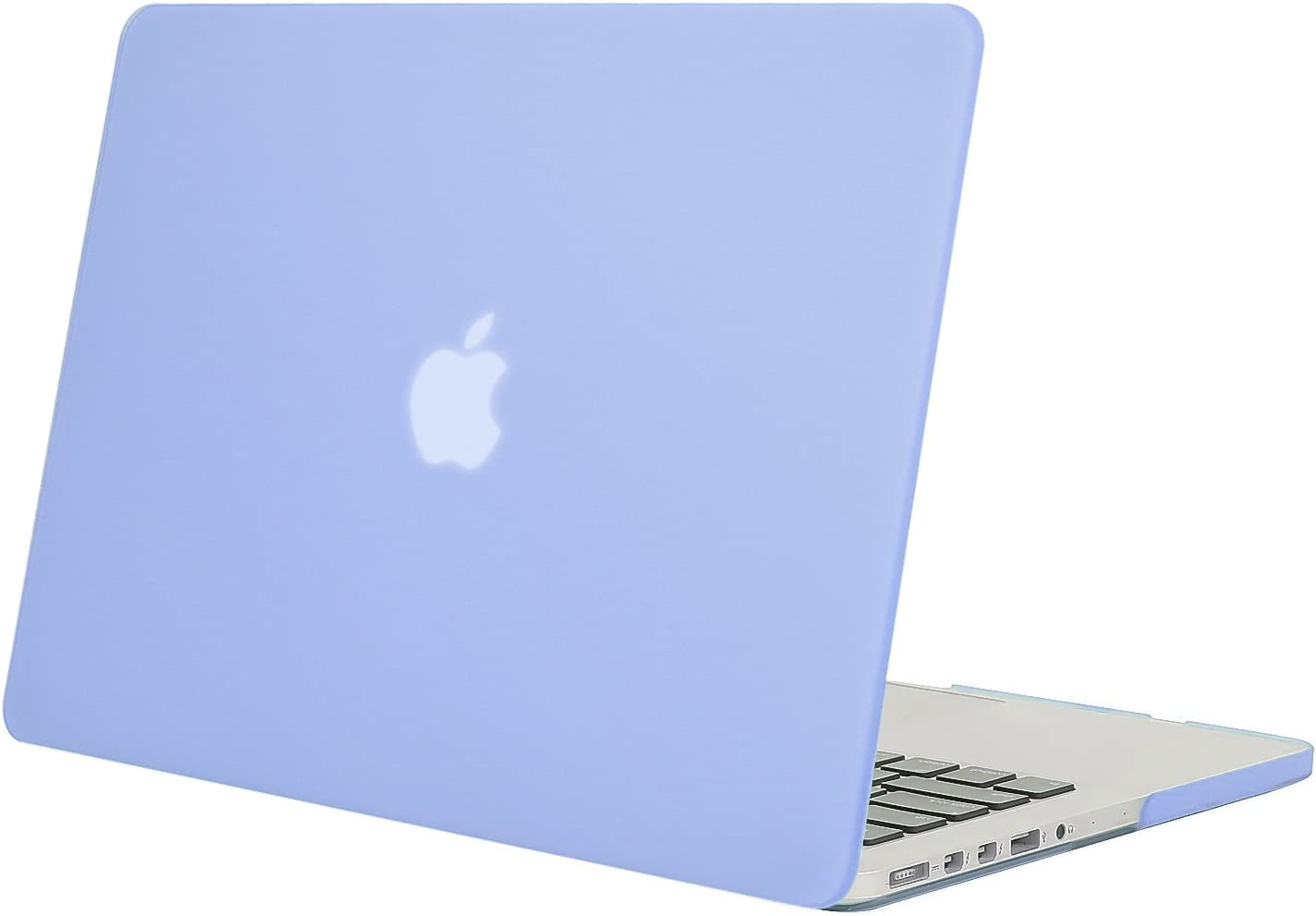MOSISO Plastic Hard Shell Case Cover Only Compatible with Older Version MacBook Pro Retina 13 Inch (Models: A1502 & A1425) (Release 2015 - end 2012), Serenity Blue