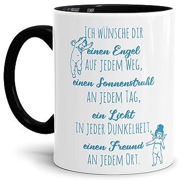 Tassendruck Geschenk Tasse Zur Konfirmation Ich Wünsche Dir Einen Engel Erwachsenkindfeierinnen Henkel Schwarz