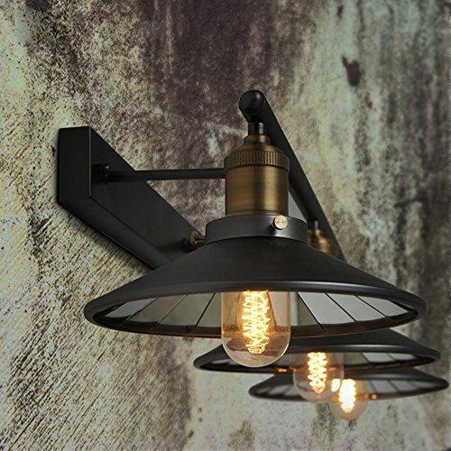 industrial loft lighting. KunMai Industrial Loft Black Saucer Shade Retro Three-Light Indoor Wall Sconce Lighting Y