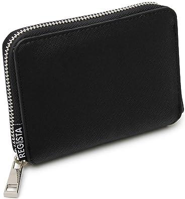 e57182c33654 ブラック F サフィアーノレザー 二つ折り財布 2つ折り財布 レザー メンズ 財布 本革 ラウンド