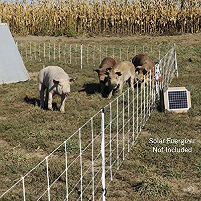 "Premier Pig QuikFence Electric Netting, White, 6/30/12 (30""H x 100'L)"