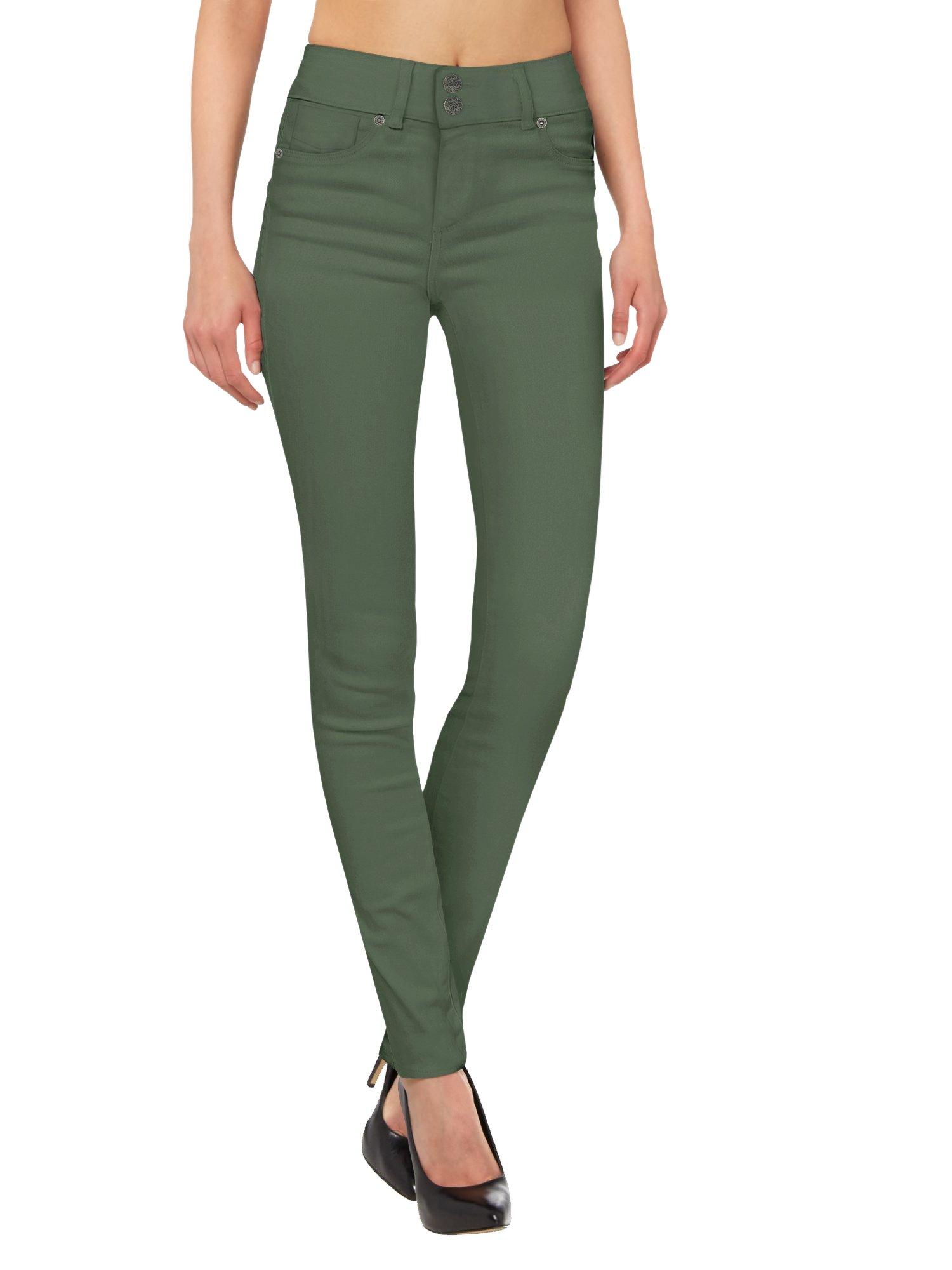 HyBrid & Company Women's Butt Lift V2 Super Comfy Stretch Denim Jeans P43637SK Olive 13 by HyBrid & Company (Image #2)