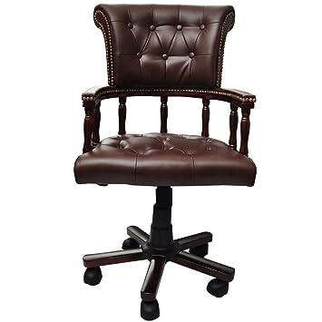 Bürosessel holz  Chefsessel Drehstuhl Bürostuhl chesterfield Bürosessel Büro Sessel ...
