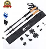 LYDUO Premium 7075 Aluminum Trekking Poles 2 Pack EVA Grip Adjustable Lightweight Waliking Sticks With All Treeian for Outdoor Walking Climing Camping Backpacking with All Terrain Tips