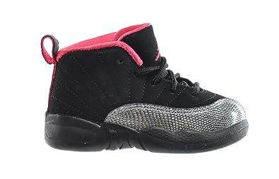 ae95f24ec2f1dd Jordan 12 Retro (TD) Baby Toddlers Basketball Shoes Black Siren Red 850000-
