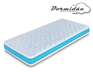 Dormidán - Colchón Juvenil viscoelástico Blau, con Diferentes Alturas 16cm o 20cm. Tejido Stretch Tacto Suave ... (80x180-20cm): Amazon.es: Hogar
