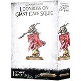 Games Workshop Warhammer Age of Sigmar: Gloomspite Gitz Loonboss on Giant Cave Squig