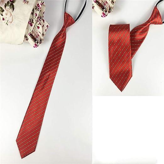 xqzs Lazy Zipper Stripes Work Tie Business 8CM Hombres Corbata 17 ...