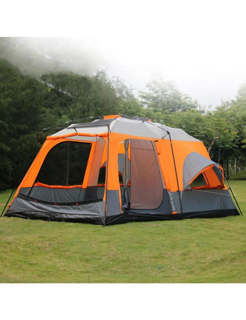 MDZH Tente Tentes Ultralarge Haute Qualité 1 Hall 2 Chambres à Coucher 6 8 10 12 Tente De Camping en Plein Air 215Cm Hauteur étanche Fête Tente Familiale  -