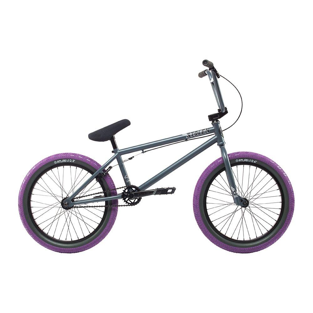 自転車 bmx STOLEN ストーレン HEIST PRIMER GREY W/PURPLE 20インチ 完成車 完全組立 S069 B074KCRPZZPRIMER-GREY-W-PURPLE HEIST
