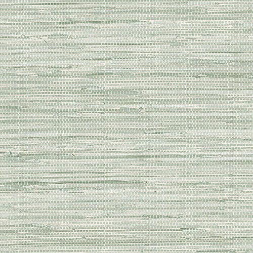 Faux Wallcoverings (Green Faux Grasscloth Wallcovering PA34209 by Norwall)