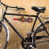 CKB Ltd Leather Bicycle Wine Bottle Holder - Carrier Rack Bottle Holder Ideal For Taking Wine On A Picnic Or Day Trip