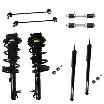 All (4) Complete Front Strut Assembly Set & Rear Shock Absorber Pair & All  (4) Front & Rear Sway Bar Links - NOT FOR WAGON - [00-05 Ford Focus]
